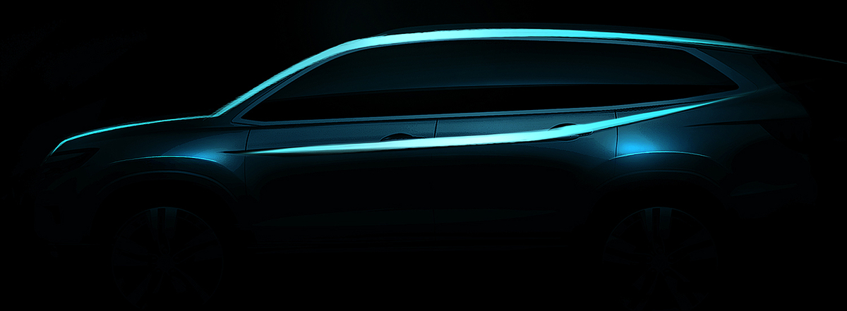 ​All-New 2016 Honda Pilot SUV to Make Global Debut at 2015 Chicago Auto Show