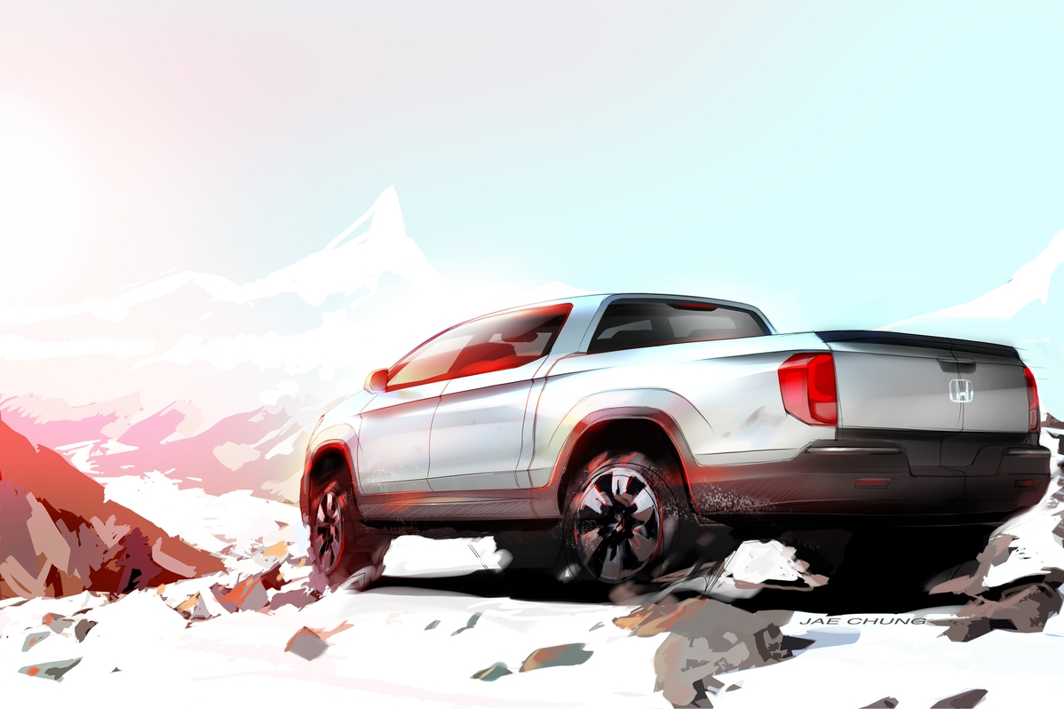 ​Next-Gen Honda Ridgeline Previewed at 2015 Chicago Auto Show